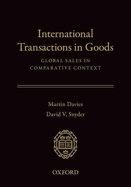 International Transactions in Goods By Davies, Martin/ Snyder, David V.